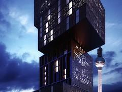 ferminnan   spagnoletta architects propose kaleidoscope skyscraper hotel in berlin