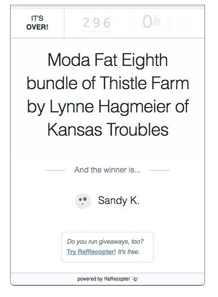 Moda Bundle Winner at From My Carolina Home