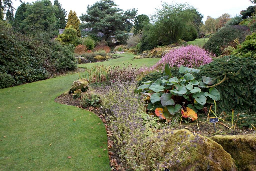 Dans le jardin botanique d'Edimbourg.