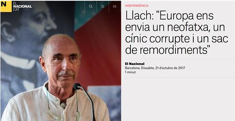 17j22 LLac Europa ens envia un neofatxa, un cínic corrupte i un sac de remordiments Uti 485