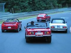 Honda S800 Coupe & Cabrio / Honda Beat / Alfa Romeo Spider auf der Nürburgring Nordschleife