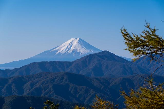 冠雪の富士山@七ッ石小屋