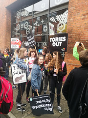 Protesting Tories: Manchester 2017