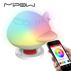 MIPOW BTL302 PLAYBULB Zoocoro Smart Lights Speakers LED Animal Shapes Wireless Charge Dimmable Floor Night Lamp Decor for Kids Gifts (1198873) #Banggood