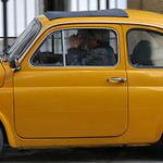Quick shot - vintage Fiat 500 zipping around in the historical centre of Florence.