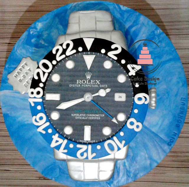 Rolex Cake from Coin Bonheur of Cake Design by Coin Bonheur