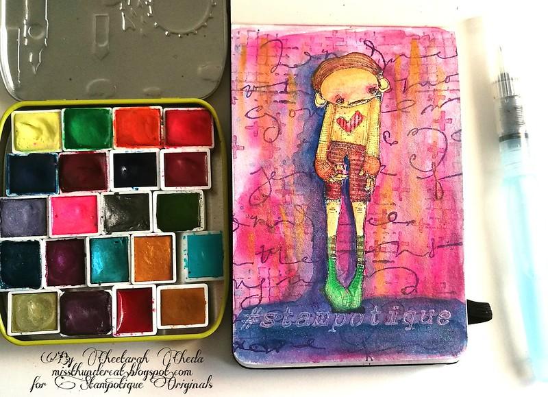 SDC 284 - Stampotique Watercolor pocket book