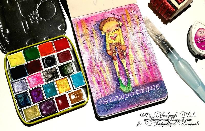 SDC 284 Stampotique Watercolor pocket book