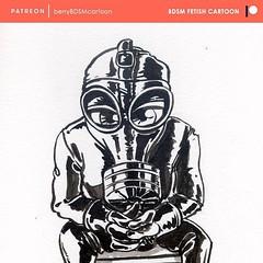 Mini rubberman for the inktober challenge. Complete illustration in http://ift.tt/2g5ipOf #bdsm #bdsmcommunity #bdsmcartoon #bdsmlifestyle #gasmask #gasmaskfetish #rubberman #latexfetish #latexguy #totalencloure #heavyrubber #pn #fi