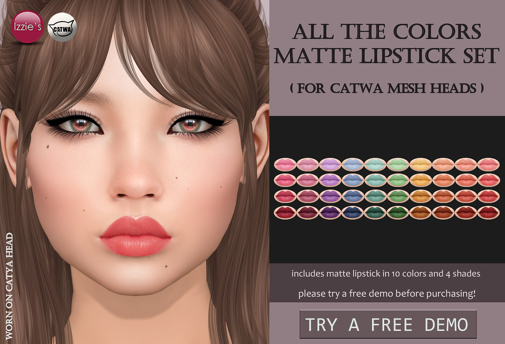 All The Colors Matte Lipstick Set Catwa (for FLF) - TeleportHub.com Live!