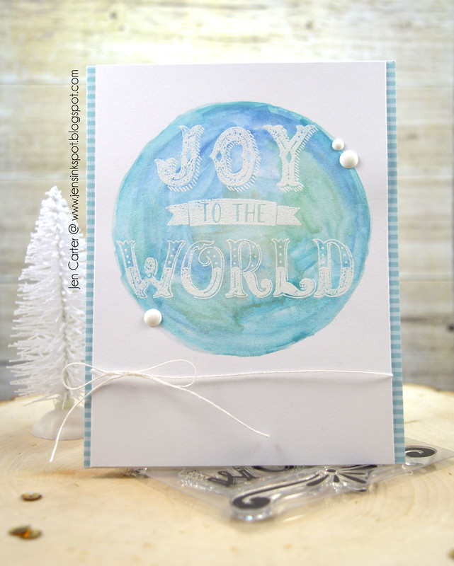Jen Carter Joy to the World Watercolor