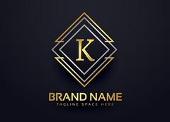 luxury line logo for letter K