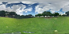 The partially renovated Thomas Square in Honolulu - a 360° Equirectangular VR