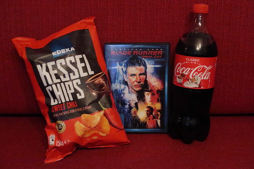 "Sweet Chili Kesselchips und Coca Cola zum Film ""Blade Runner"""
