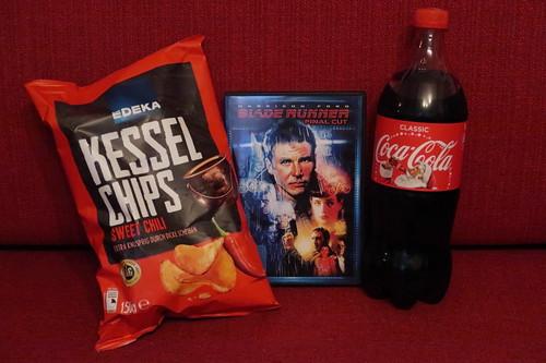 """Sweet Chili Kesselchips und Coca Cola zum Film """"Blade Runner"""""""