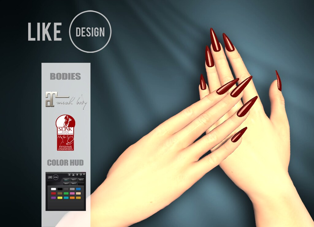 .: LIKE DESIGN :. Bento Pointy Nails - TeleportHub.com Live!