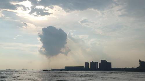 Emissions over Pulau Bukom