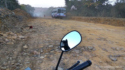 Bad roads in Rajasthan