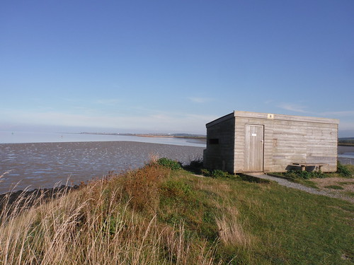 Birdhide at Oare Marshes Nature Reserve
