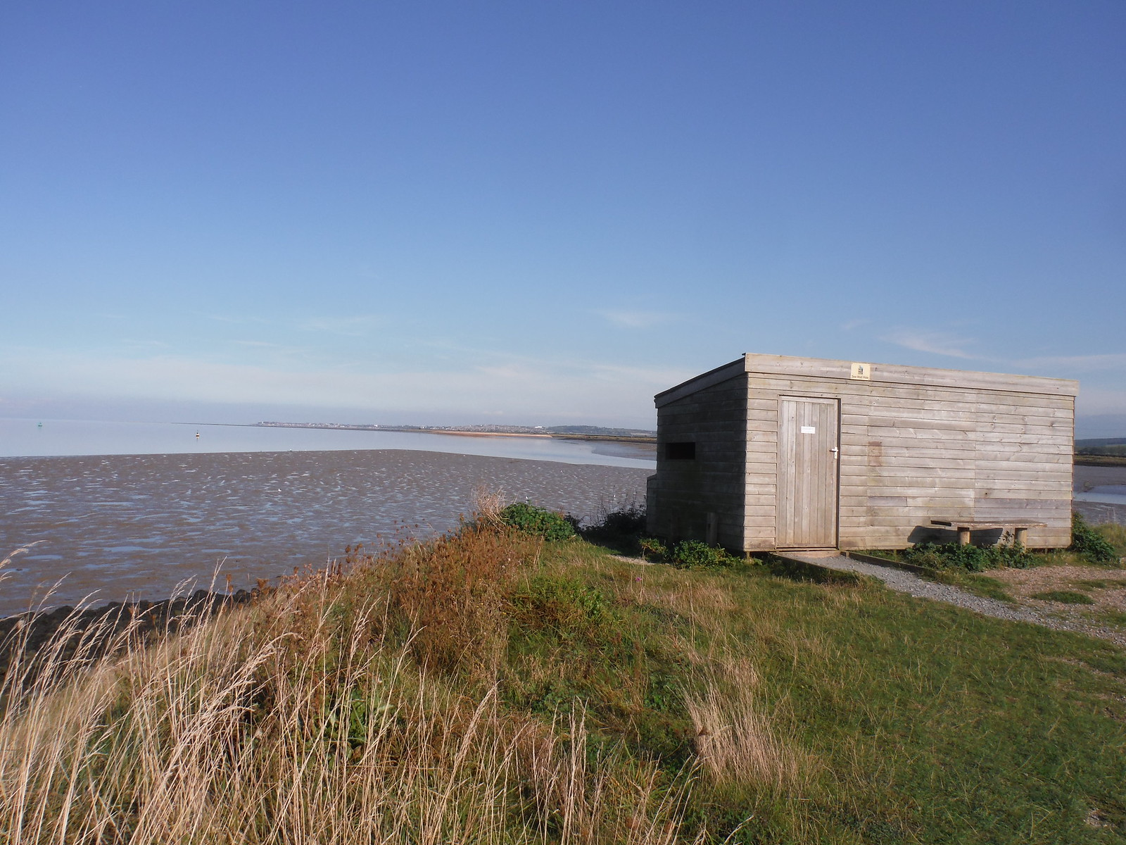 Birdhide at Oare Marshes Nature Reserve SWC Walk 299 - Teynham to Faversham