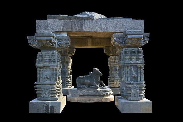 India - Telangana - Warangal - Warangal Fort - Nandi Pavilion - 5d