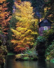 Bohemian Switzerland is also known as Czech Switzerland 🍂...