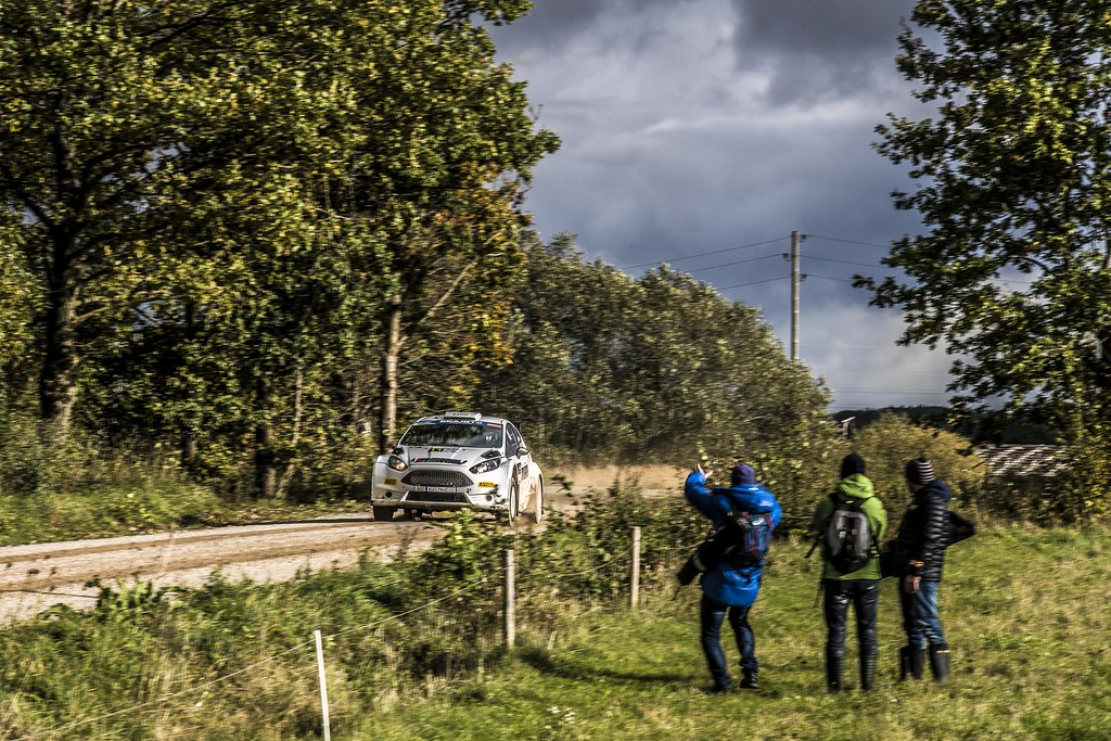 11 Berķis Jānis and Čeporjus Edgars, Neiksans Rally Sport, Ford Fiesta R5 action during the 2017 European Rally Championship ERC Liepaja rally,  from october 6 to 8, at Liepaja, Lettonie - Photo Gregory Lenormand / DPPI