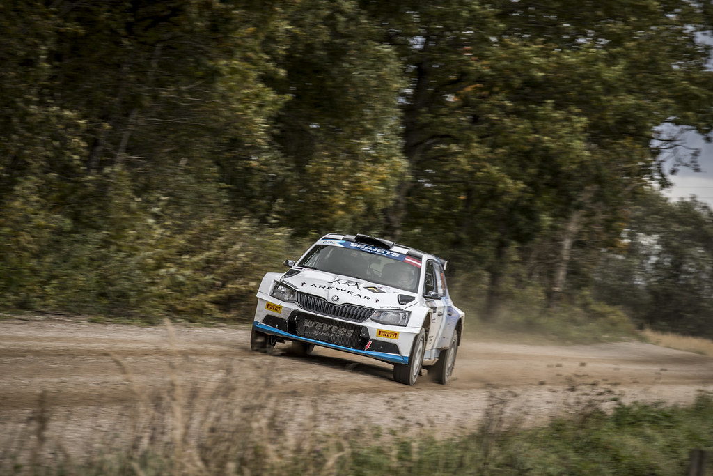 07 Von Thurn und Taxis Albert and Degandt Bjorn, Škoda Fabia R5 action during the 2017 European Rally Championship ERC Liepaja rally,  from october 6 to 8, at Liepaja, Lettonie - Photo Gregory Lenormand / DPPI