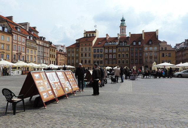 Market Square, Old Town of Warsaw, Poland