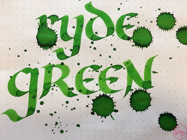 Ink Shot Review @RobertOsterInk Ryde Green @MilligramStore 9