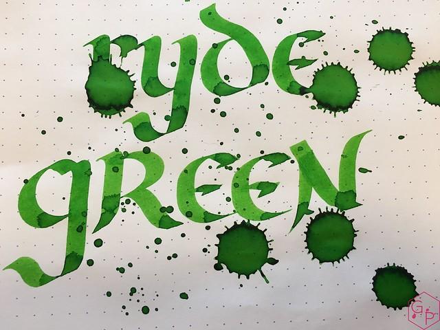 Ink Shot Review @RobertOsterInk Ryde Green @MilligramStore 9