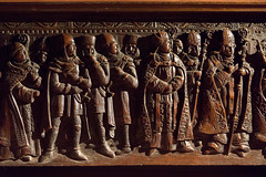 The murderous knights | Thomas à Becket panel | Athelhampton House | Dorset-32
