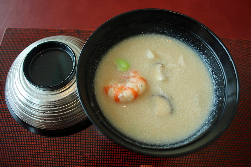 Wintermelon soup with yuzu cosh