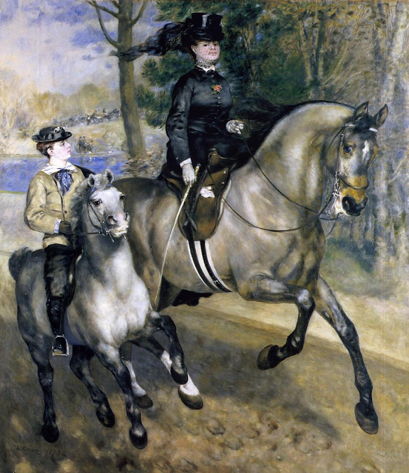 The Ride by Pierre Auguste Renoir