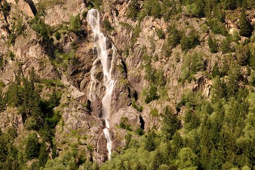 dusty waterfall