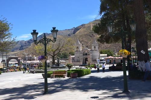 Blick auf die Kathedrale von Chivay