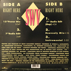SWV:RIGHT HERE(JACKET B)