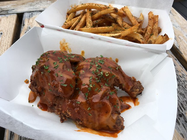 Spicy Memphis Gold hen and fries - Flying Sobie's Hen House