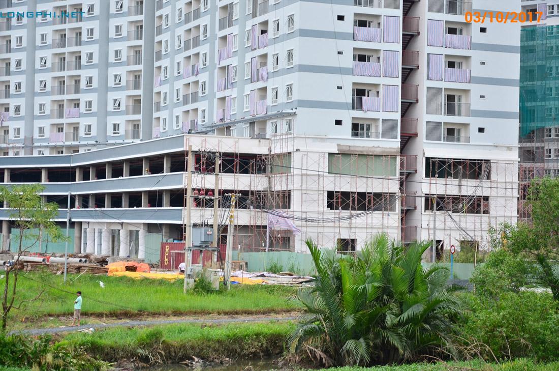 Công tác hoàn thiên khối đế M2 Jamona Apartment.