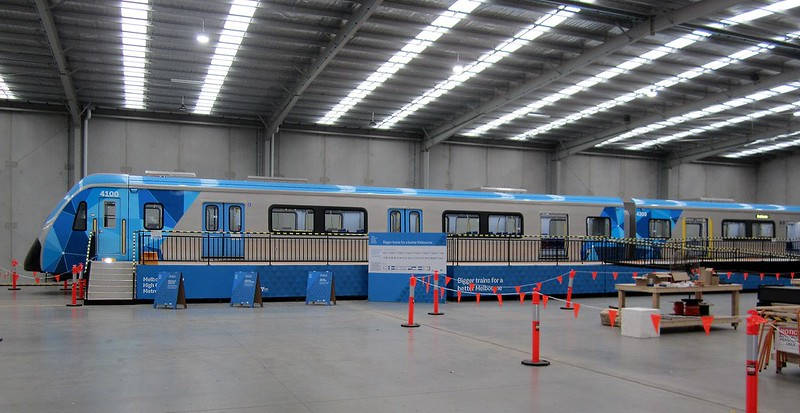 New train mock-up: It's made up of one and a half carriages, to show the differing layouts throughout the train