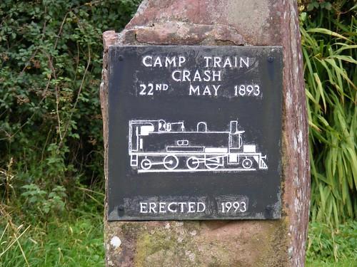 Monument to Camp train crash