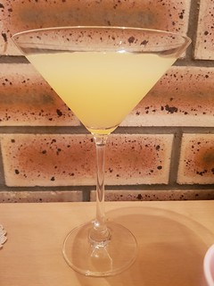 Fancy Martini Glass - Apple Juice