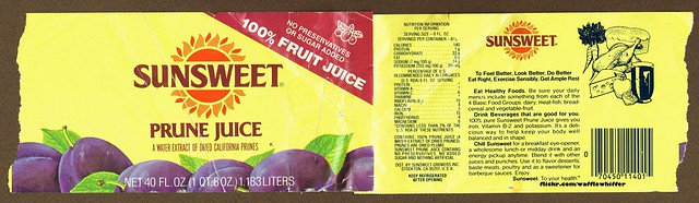 Sunsweet Prune Juice - 1980s