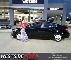 Congratulations Thomas on your #Kia #Forte from Marlon Smith at Westside Kia!
