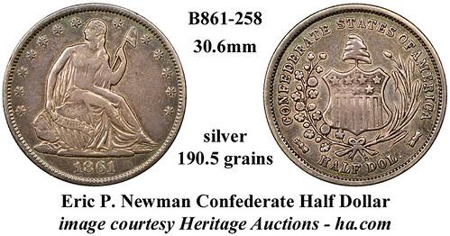 B861-258_ Newman CSA Half Dollar