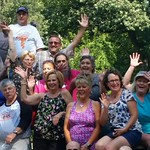 1977 AHS class reunion group Sunday Sep 24 2017 at Brookside Park Ames Iowa on the firetruck 40th reunion