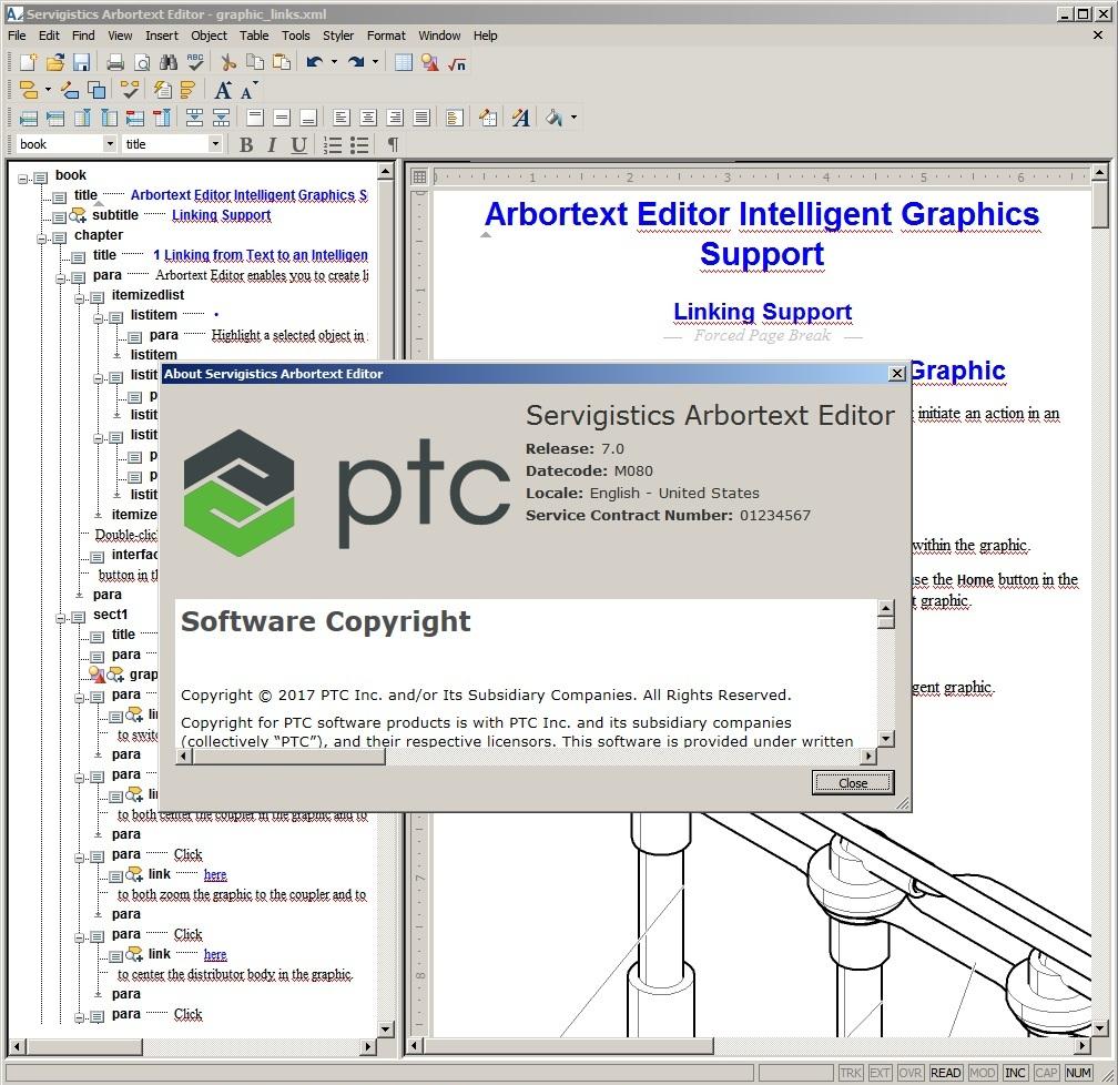 Working with PTC Arbortext Editor 7.0 M080 full license