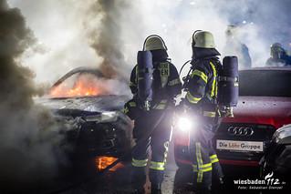 Pkw-Brände Autohaus Mainzer Str. 09.10.17