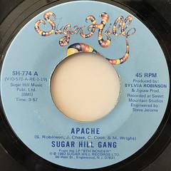 SUGAR HILL GANG:APACHE(LABEL SIDE-A)