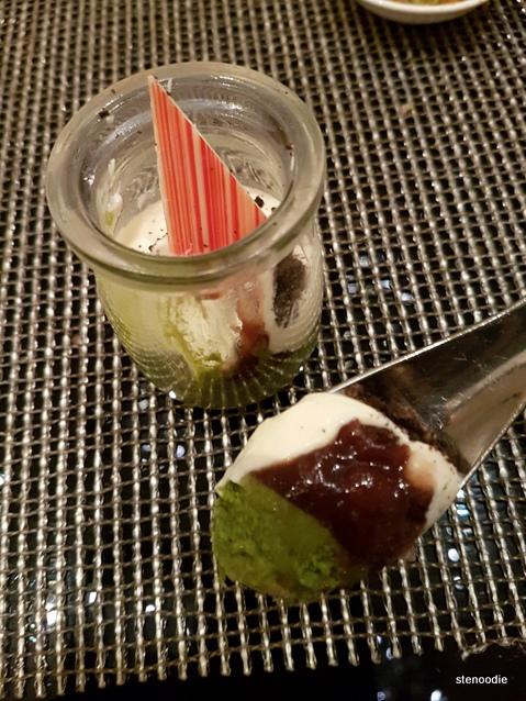 Uji Matcha and Hokkaido Cream Panna Cotta